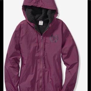 """VS"""" PINK """" Sherpa Lined Anorak Hoodie Jacket"""